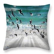 Sandestin Seagulls C Throw Pillow