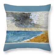 Sandgate Beach. Kent  Throw Pillow