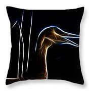 Sandhill Crane Fractal Throw Pillow