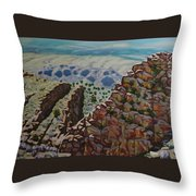 Looking Down From The Sandia Mountains Throw Pillow