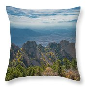 Sandia Crest In Fall Throw Pillow