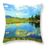 Sandia Golf Club Hole #14 Throw Pillow