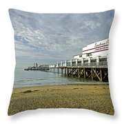 Sandown Pier Throw Pillow