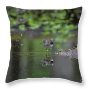 Sandpiper In The Smokies Throw Pillow