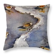 Sandpiper Seashore Throw Pillow