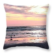 Sandpipers At Old Silver  Throw Pillow