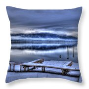 Sandpoint From 41 South Throw Pillow