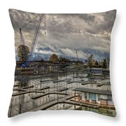 Sandpoint Marina 2 Throw Pillow