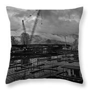 Sandpoint Marina And Byway Throw Pillow