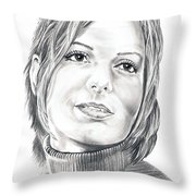 Sandra Bullock Throw Pillow