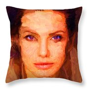 Sandra Jolie Throw Pillow
