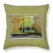 Sandringham Woods. Uk. Throw Pillow