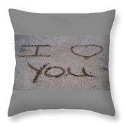Sandscript - I Love You Throw Pillow