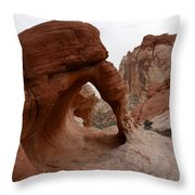 Sandstone Arches Valley Of Fire Throw Pillow