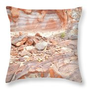 Sandstone Colors In Wash 3 - Valley Of Fire Throw Pillow