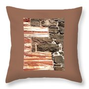 Sandstone Corners  Throw Pillow