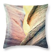 Sandstone Curve. Throw Pillow