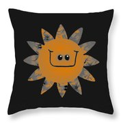 Sandstone Daisy Throw Pillow