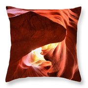 Sandstone Dog Abstract Throw Pillow