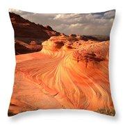 Sandstone Dragon Portrait View Throw Pillow