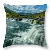 Sandstone Falls New River  Throw Pillow