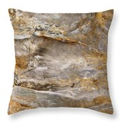 Sandstone Formation Number 2 At Starved Rock State Throw Pillow
