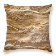 Sandstone Formation Number 3 At Starved Rock State Throw Pillow