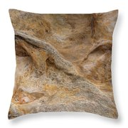 Sandstone Formation Number 4 At Starved Rock State Throw Pillow