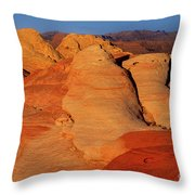 Sandstone Formations In Valley Of Fire State Park Nevada Throw Pillow by Dave Welling