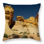 Sandstone Fortress Valley Of Fire Throw Pillow
