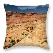 Sandstone Landscape Valley Of Fire Throw Pillow