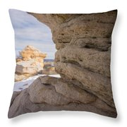 Sandstone Layers Throw Pillow
