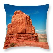 Sandstone Monolith, Courthouse Towers, Arches National Park Throw Pillow