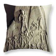 Sandstone Stele Throw Pillow