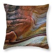 Sandstone Strata - Abstract Throw Pillow