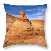 Sandstone Tent Rock Throw Pillow