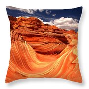 Sandstone Waves And Clouds Throw Pillow