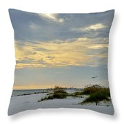 Sandy Alabama Beach Throw Pillow