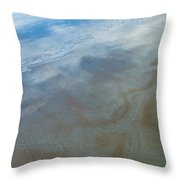 Sandy Beach Abstract Throw Pillow by Carolyn Marshall