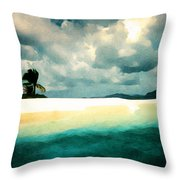Sandy Cay Throw Pillow