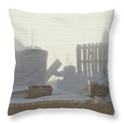 Sandy City Throw Pillow