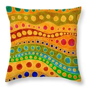 Sandy Days Throw Pillow