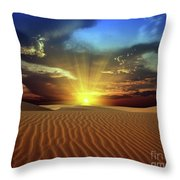 Sandy Desert Throw Pillow