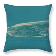 Sandy Hook New Jersey Aerial Photo Throw Pillow