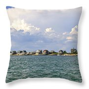 Sandy Neck Cottage Colony Throw Pillow