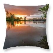 Sandy River Sunset Throw Pillow