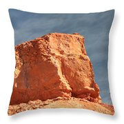 Sandy Rock In Morning Light Throw Pillow