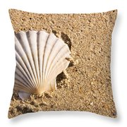 Sandy Shell Throw Pillow by Jorgo Photography - Wall Art Gallery