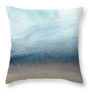 Sandy Shore- Art By Linda Woods Throw Pillow