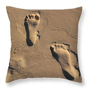 Sandy Toes Throw Pillow